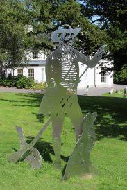 Stainless steel artwork, representing Samuel Homfray, Bedwellty Park, Tredegar