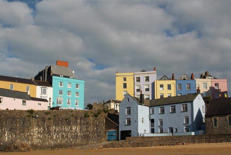 The Blue House, Harbour Beach, Tenby