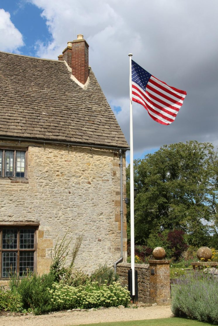 The Stars and Stripes, Sulgrave Manor, home of George Washington's ancestors, Sulgrave