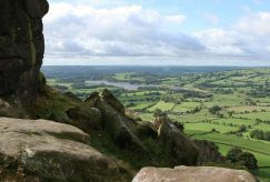 Tittesworth Reservoir and the Staffordshire Moorlands, from Hen Cloud, The Roaches