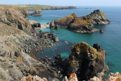 Asparagus Island and Lizard Point, from Kynance Cliff, Kynance Cove