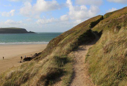 Coast path, Daymer Bay, Camel Estuary, Rock