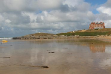 Towan Head and The Headland Hotel, from Fistral Beach, Newquay