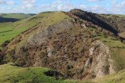 Bunster Hill, from summit of Thorpe Cloud, Dovedale