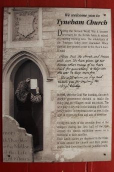 Notice pinned on St. Mary's Church door by resident, before leaving Tyneham