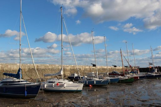 Sailing boats, the Harbour, Lyme Regis