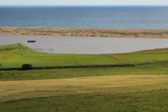 The Fleet and Chesil Beach, from Chapel Hill, Abbotsbury