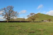 Thorpe Cloud and Bunster Hill, from Thorpe Pastures, Dovedale