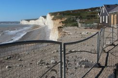 Aftermath of storms 2014, National Trust Cafe, Birling Gap