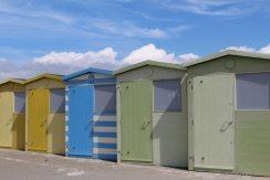 Beach huts, Seaford