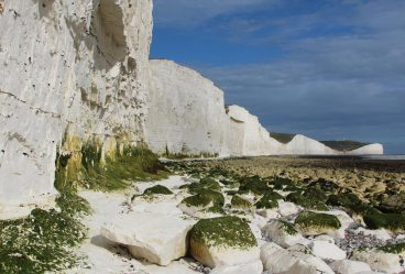 Chalk boulders, below Seven Sisters