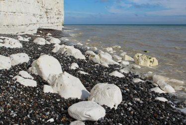 Chalk boulders, east of Birling Gap