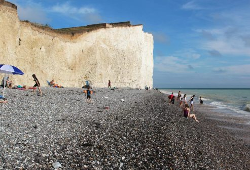 Chalk cliffs and beach, Birling Gap