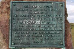 Plaque on Sarsen Stone Monument, Flagstaff Point, Seven Sisters