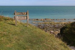 Signpost, Cow Gap, Beachy Head