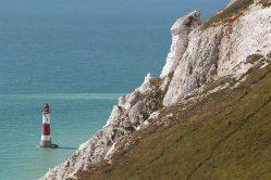 Beachy Head Lighthouse and chalk cliffs