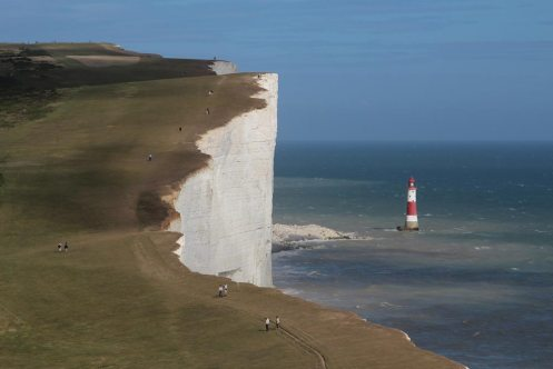 Beachy Head Lighthouse, from Belle Tout Lighthouse