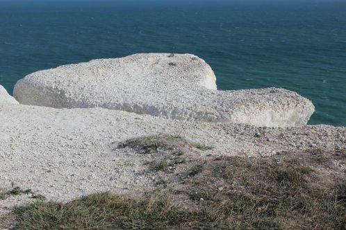 Chalk cliff edge separation, Beachy Head