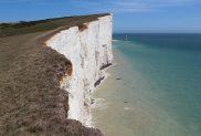 Chalk cliffs and Beachy Head Lighthouse
