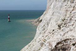 Crumbling chalk cliffs, Beachy Head