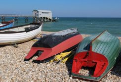Fishing boats and Lifeboat Station, Selsey Bill