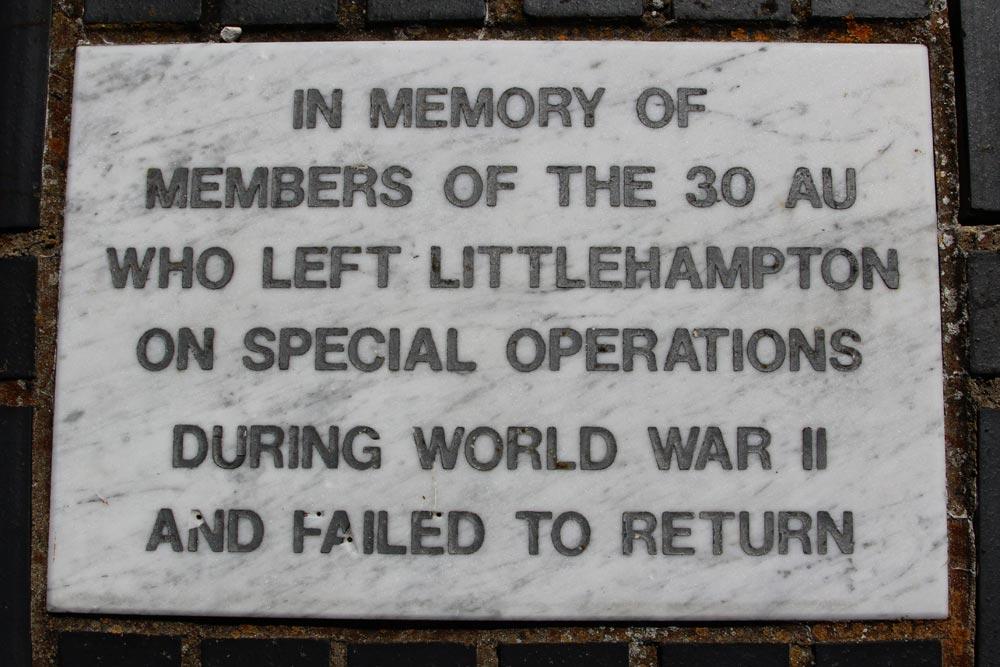 Memorial to 30 Assault Unit, Royal Marines, World War II, Littlehampton