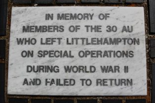 Memorial to 30 Assault Unit, Royal Marines, World War II, Littlehampton