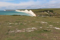 South Downs Way cliff path to Birling Gap and Seven Sisters