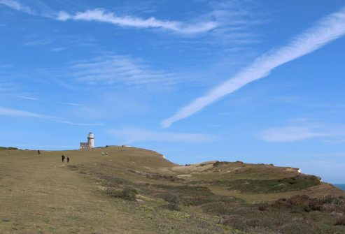 South Downs Way to Belle Tout Lighthouse, from Birling Gap