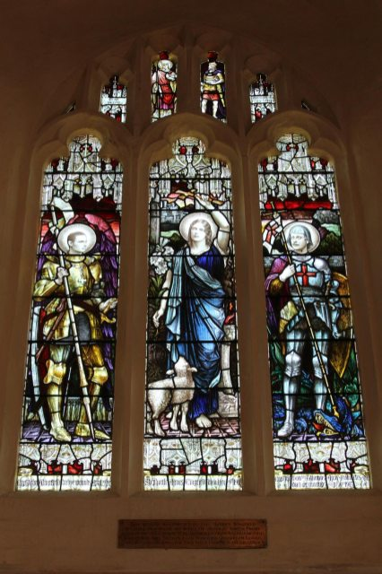 Stained glass windows, erected by Capt. Maurice Wingfield, St. Wilfrid's Chapel, Church Norton