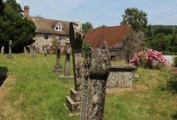 St. John the Baptist Churchyard and The Church House, Lustleigh