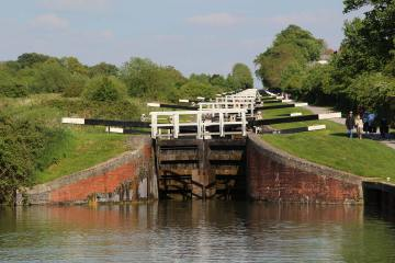 Caen Hill Flight Locks, Kennet and Avon Canal, Rowde