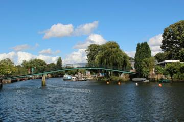 Footbridge over River Thames to Eel Pie Island, Twickenham