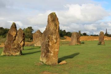 Millennium Project Stone Circle, Ham Hill Country Park