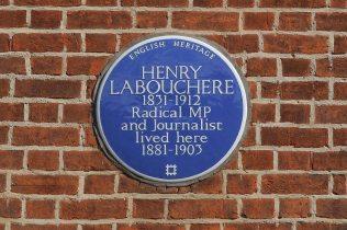 Blue Plaque, Henry Labouchere, Pope's Villa, Twickenham