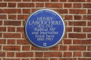 Blue Plaque, Henry Labouchere, Pope's Villa, Twickenham