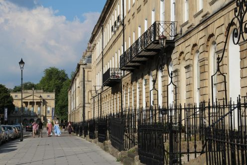 Great Pulteney Street, leading to The Holburne Museum, Bath
