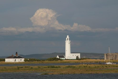 Hurst Lighthouse, from Hurst Spit, Milford-on-Sea