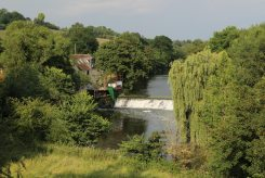 Old North Mill and Weir, River Avon, Avoncliff