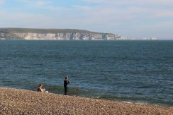 The Needles, Isle of Wight, from Hurst Spit, Milford-on-Sea