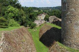 Western Moat, Farleigh Hungerford Castle, Farleigh Hungerford