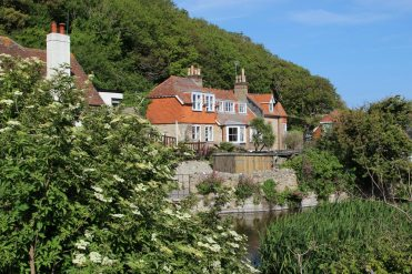 Bishops Hotel and Mill Pond, Lulworth Cove