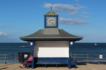 Clock shelter, seafront, Swanage
