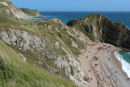 Durdle Door Beach, from South West Coast Path to Swyre Head