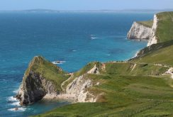 South West Coast Path to Durdle Door Beach and Man O' War Beach, from Lulworth Cove