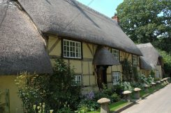 Thatched cottages, Church Street, Wherwell