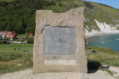 World Heritage Site award to Dorset and East Devon Coast, unveiled by HRH The Prince of Wales, Lulworth Cove