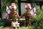 HM the Queen Diamond Jubilee 2012 celebrations, flower pot men, Shere