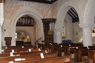 Nave and South Aisle, St. Nicholas Church, Compton