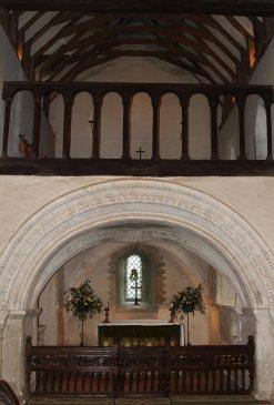 Sanctuary and Upper Sanctuary, St. Nicholas Church, Compton